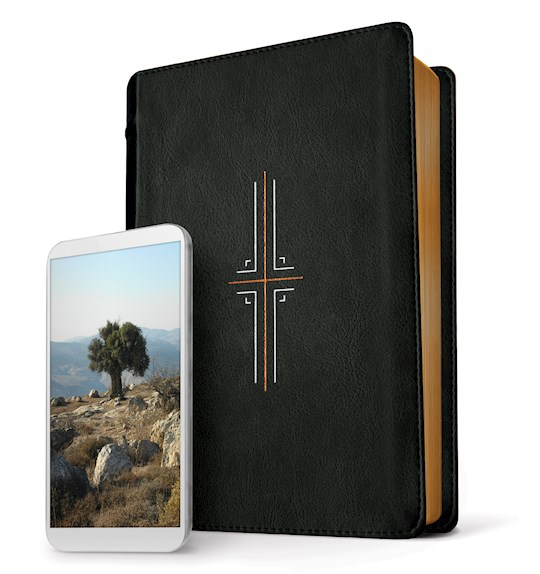 NLT Filament Bible-Black LeatherLike Indexed | SHOPtheWORD
