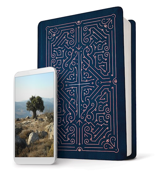 NLT Filament Bible-Blue LeatherLike | SHOPtheWORD