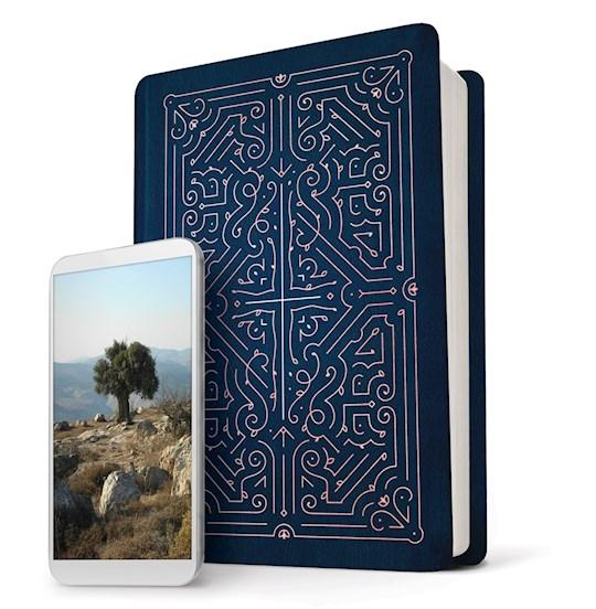 NLT Filament Bible-Blue LeatherLike Indexed   SHOPtheWORD