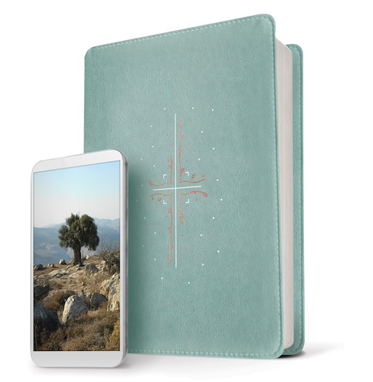 NLT Filament Bible-Teal LeatherLike Indexed | SHOPtheWORD
