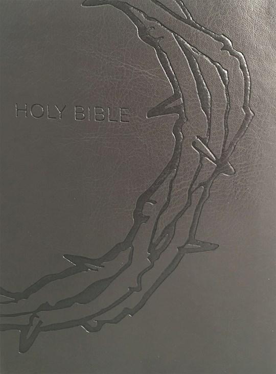 KJV Sword Study Bible/Personal Size Large Print Designer Charcoal Ultrasoft-Crown of Thorns Indexed (O-S-I) | SHOPtheWORD
