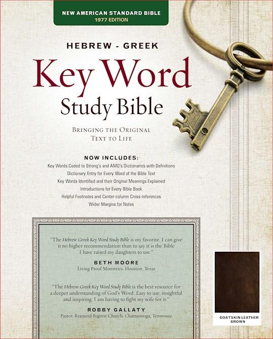 NASB Hebrew-Greek Key Word Study Bible-Brown Genuine Goatskin Leather | SHOPtheWORD