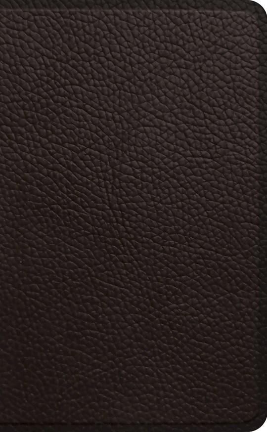 ESV Pocket Bible-Deep Brown Buffalo Leather | SHOPtheWORD