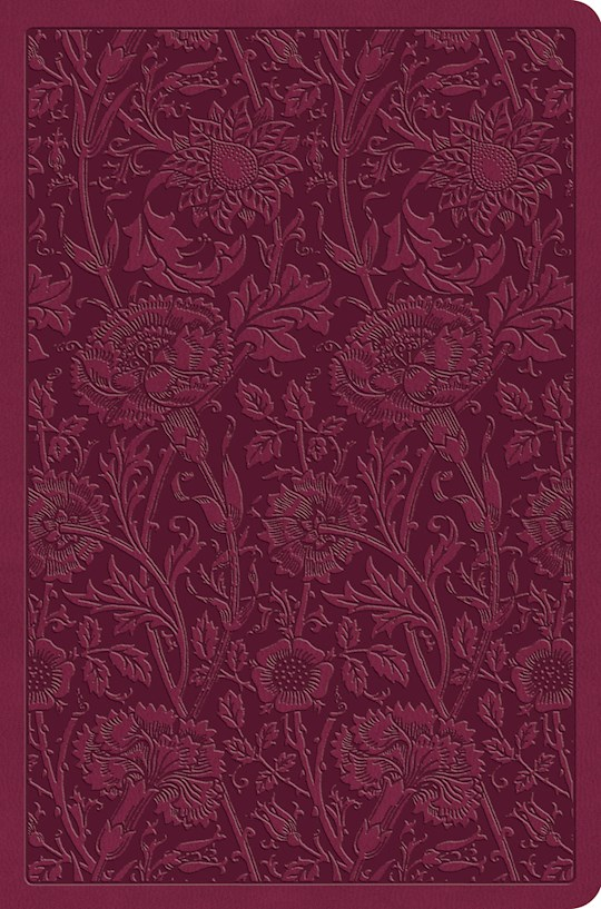 ESV Value Compact Bible-Raspberry Floral Design TruTone | SHOPtheWORD