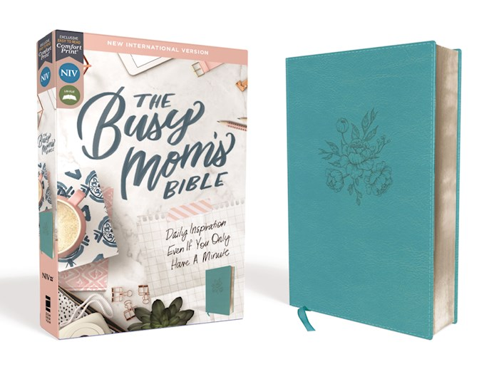 NIV The Busy Mom's Bible (Comfort Print)-Teal Leathersoft | SHOPtheWORD