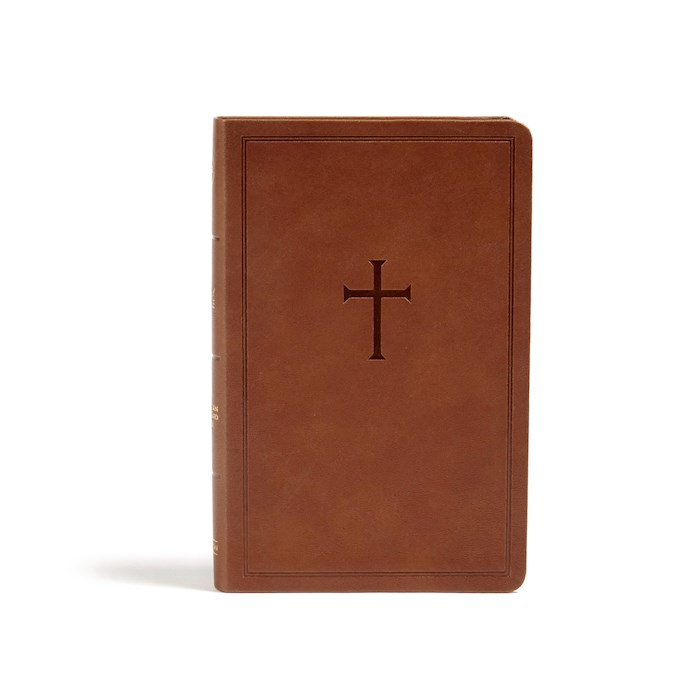 CSB Personal Size Bible-Brown LeatherTouch   SHOPtheWORD