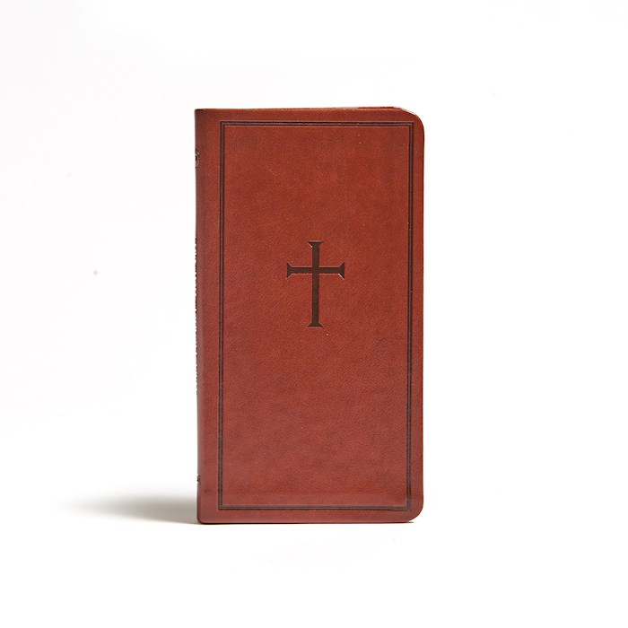 CSB Single-Column Pocket New Testament-Brown LeatherTouch (Aug 2020)   SHOPtheWORD