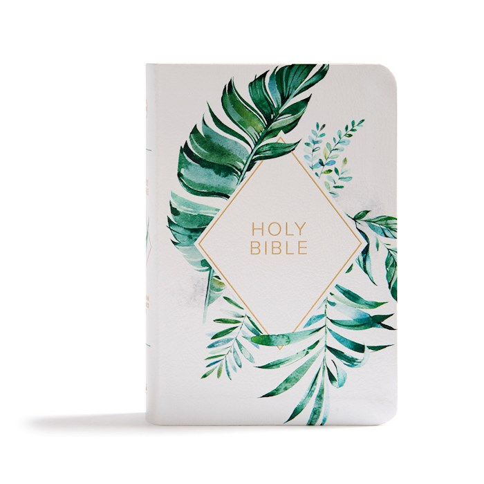 KJV On-The-Go Bible-White Floral Textured LeatherTouch | SHOPtheWORD