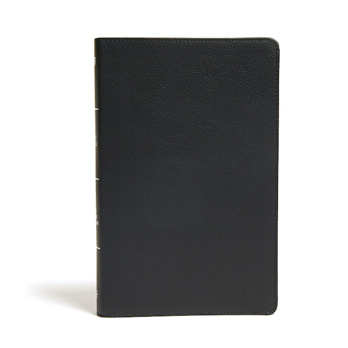 KJV Ultrathin Reference Bible-Black Genuine Leather Indexed | SHOPtheWORD