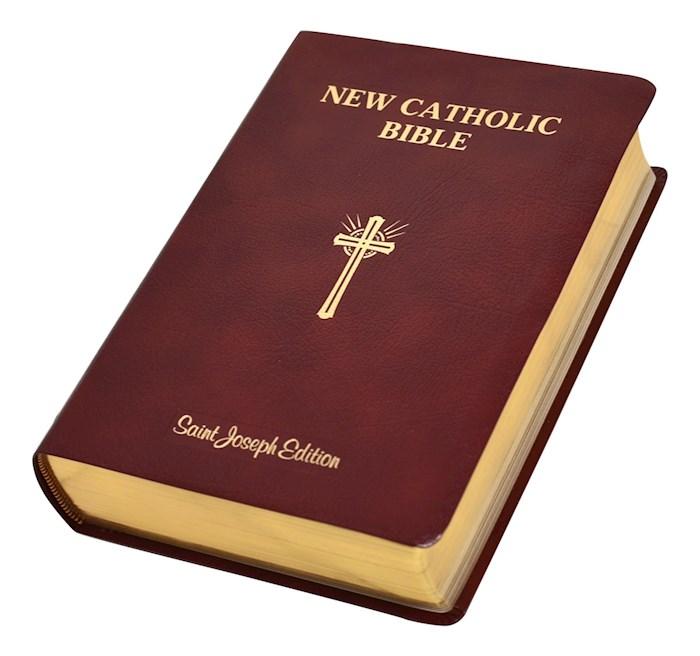 NCB St. Joseph New Catholic Bible Giant Type-Burgundy Bonded Leather | SHOPtheWORD