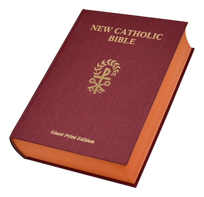 NCB St. Joseph New Catholic Bible Giant Type-Red Hardcover | SHOPtheWORD