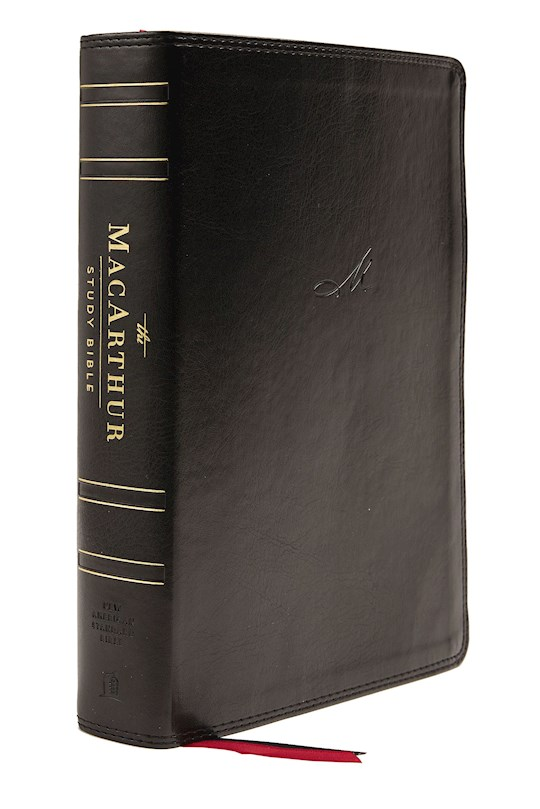 NASB MacArthur Study Bible (2nd Edition) (Comfort Print)-Black Leathersoft Indexed   SHOPtheWORD