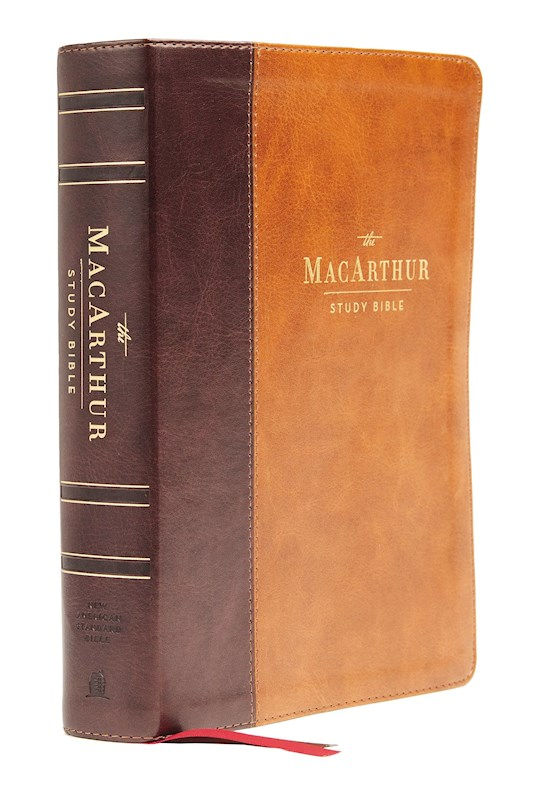 NASB MacArthur Study Bible (2nd Edition) (Comfort Print)-Mahogany Leathersoft   SHOPtheWORD