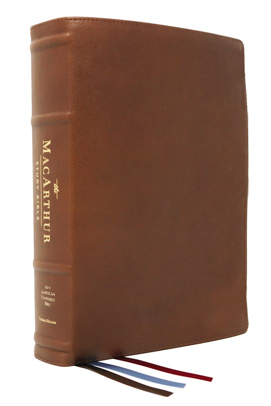 NASB MacArthur Study Bible (2nd Edition) (Comfort Print)-Brown Premium Goatskin Leather | SHOPtheWORD