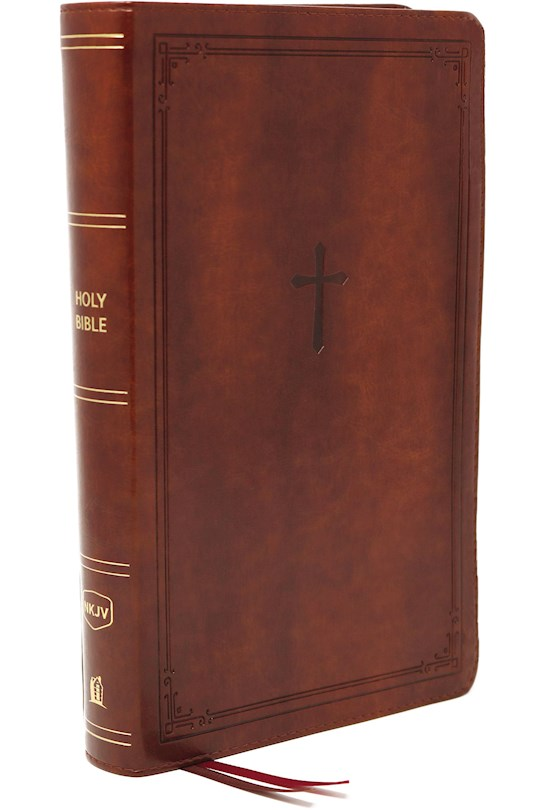 NKJV Compact Large Print Reference Bible (Comfort Print)-Brown Leathersoft   SHOPtheWORD