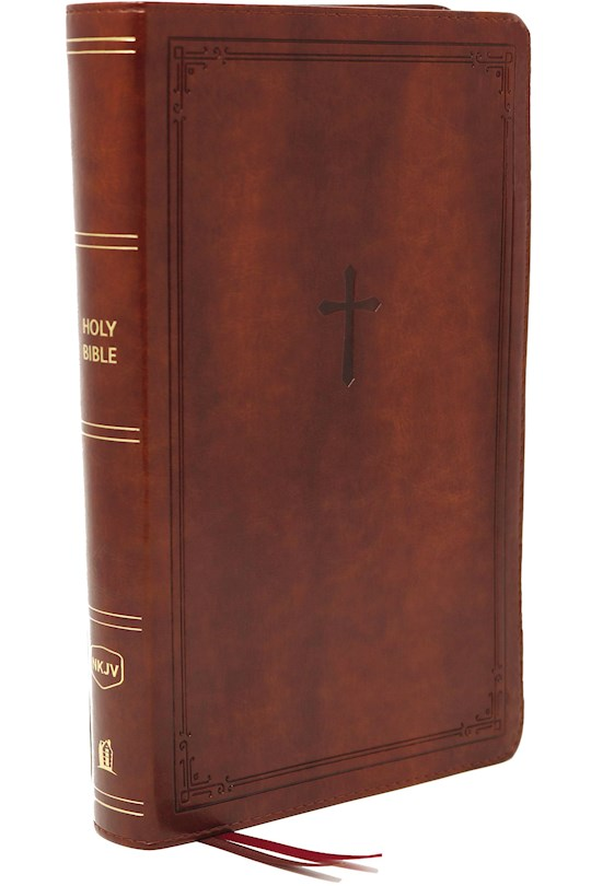 NKJV Personal Size Large Print Reference Bible (Comfort Print)-Brown Leathersoft | SHOPtheWORD