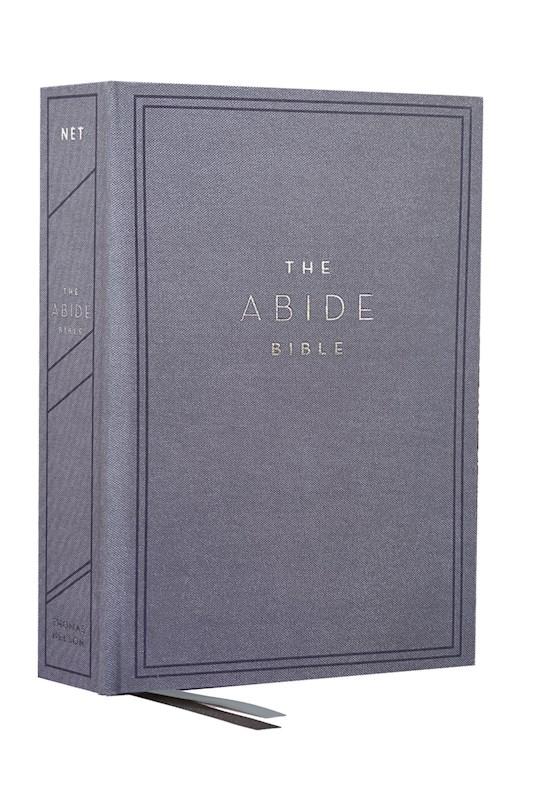 NET Abide Bible (Comfort Print)-Blue Cloth Over Board | SHOPtheWORD
