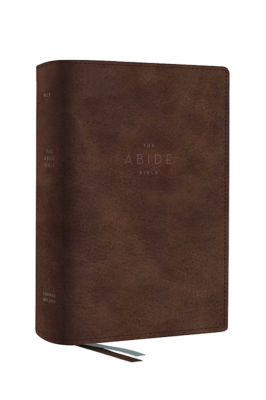 NET Abide Bible (Comfort Print)-Brown Leathersoft | SHOPtheWORD
