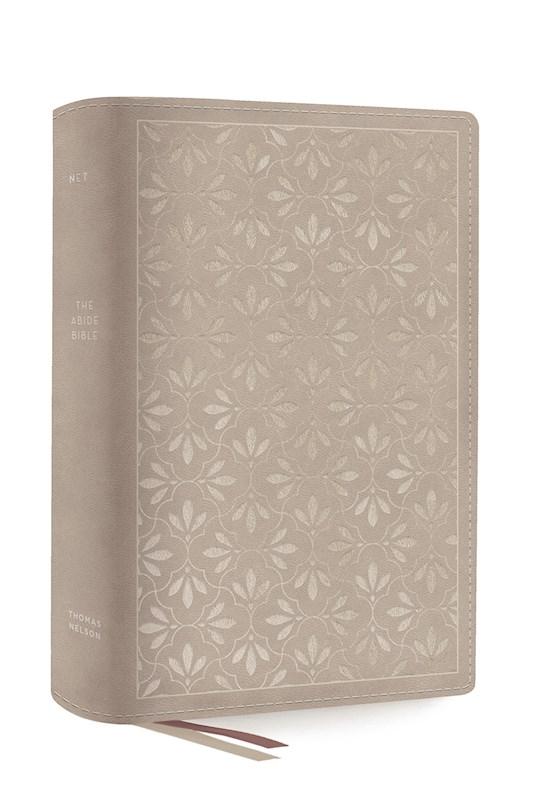 NET Abide Bible (Comfort Print)-Stone Leathersoft | SHOPtheWORD