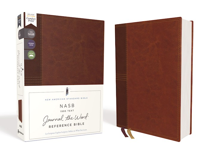 NASB Journal The Word Reference Bible (Comfort Print)-Brown Leathersoft | SHOPtheWORD