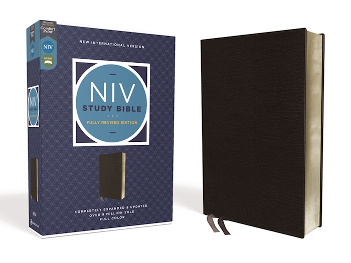 NIV Study Bible (Fully Revised Edition) (Comfort Print)-Black Bonded Leather | SHOPtheWORD