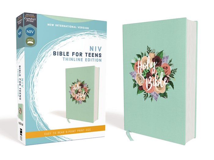 NIV Thinline Bible For Teens (Comfort Print)-Floral Cloth Over Board | SHOPtheWORD
