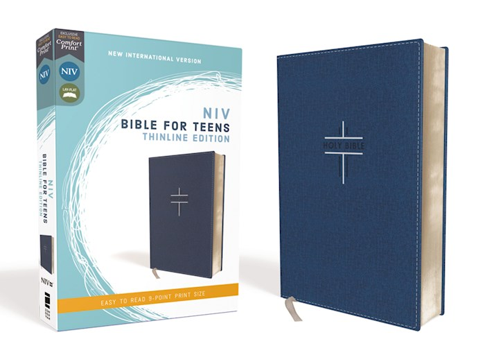 NIV Thinline Bible For Teens (Comfort Print)-Blue Leathersoft | SHOPtheWORD
