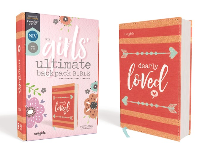 NIV Girls' Ultimate Backpack Bible (Faithgirlz Edition) (Comfort Print)-Coral Flexcover | SHOPtheWORD