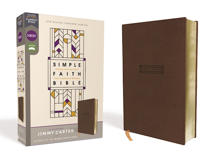 NRSV Simple Faith Bible (Comfort Print)-Brown Leathersoft | SHOPtheWORD