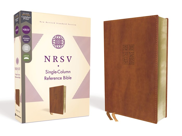 NRSV Single-Column Reference Bible (Comfort Print)-Brown Leathersoft | SHOPtheWORD