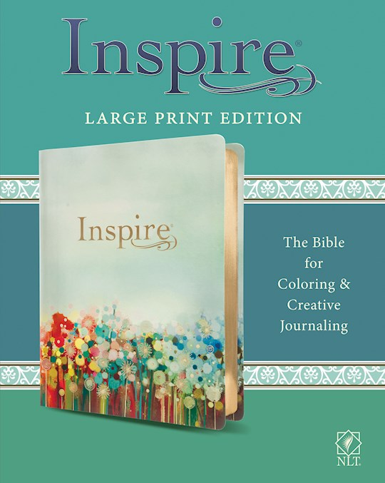 NLT Inspire Bible/Large Print-Multicolor LeatherLike | SHOPtheWORD