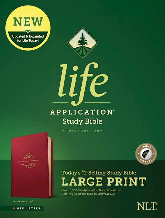 NLT Life Application Study Bible/Large Print (Third Edition)-Berry LeatherLike Indexed | SHOPtheWORD