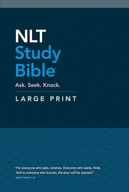 NLT Study Bible/Large Print-Hardcover | SHOPtheWORD