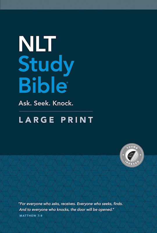 NLT Study Bible/Large Print-Hardcover Indexed (Aug 2020)  | SHOPtheWORD
