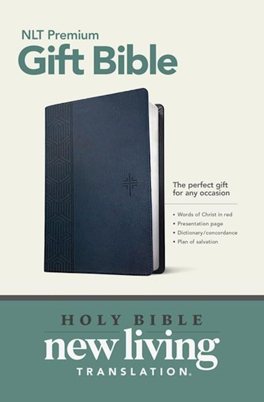 NLT Premium Gift Bible-Blue LeatherLike | SHOPtheWORD