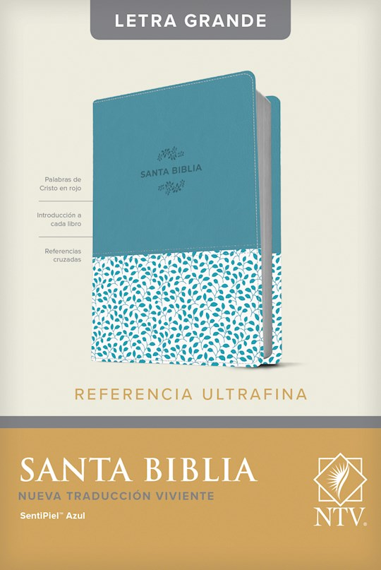 Span-NTV Slimline Reference/Large Print Bible (Referencia Ultrafina Letra Grande)-Blue LeatherLike | SHOPtheWORD