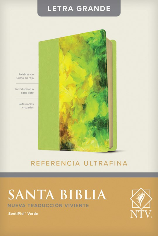 Span-NTV Slimline Reference/Large Print Bible (Referencia Ultrafina Letra Grande)-Green LeatherLike | SHOPtheWORD