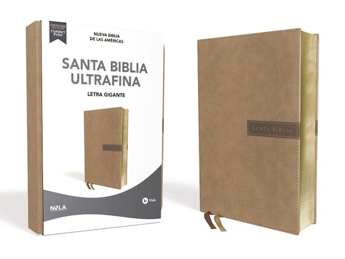 Span-NBLA Ultrathin/Giant Print Bible (Santa Biblia Ultrafina/Letra Gigante)-Beige Leathersoft (Sep) | SHOPtheWORD