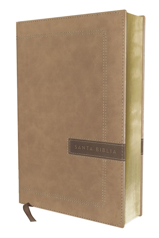 Span-NBLA Single-Column/Large Print Reference Bible (Biblia Una Columna Con Referencias/Letra Grande)-Beige Leathersoft  | SHOPtheWORD