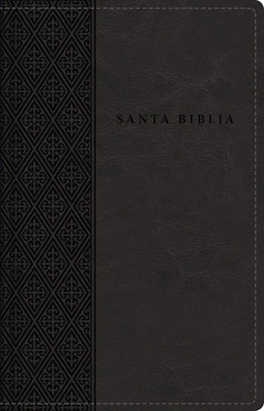Span-RVR 1960 Large Print Compact Bible (Santa Biblia Letra Grande/Tamano Compacto)-Black Leathersoft Indexed | SHOPtheWORD