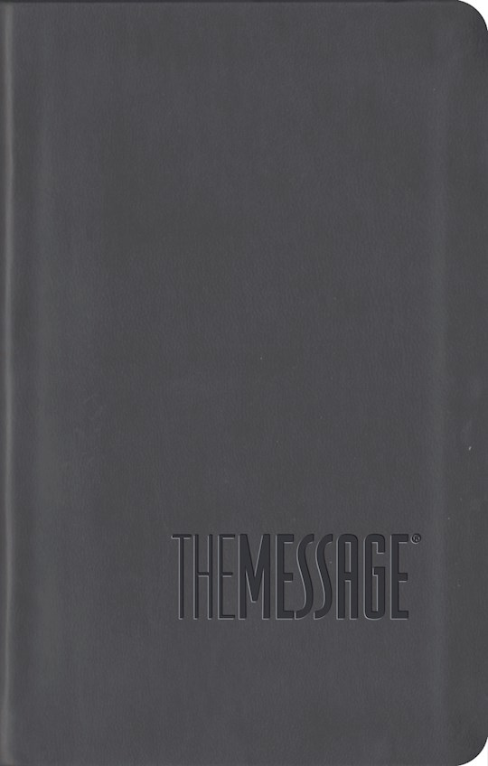 Message Compact Bible ITP-Graphite LeatherLook (International Customers Only) | SHOPtheWORD