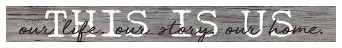 Thin Strip Sign-This Is Us (13.5 X 1.5) | SHOPtheWORD