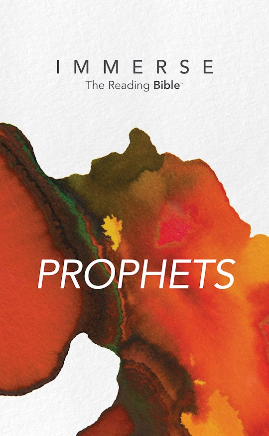 NLT Immerse: Prophets-Softcover (Canadian Customers Only) | SHOPtheWORD