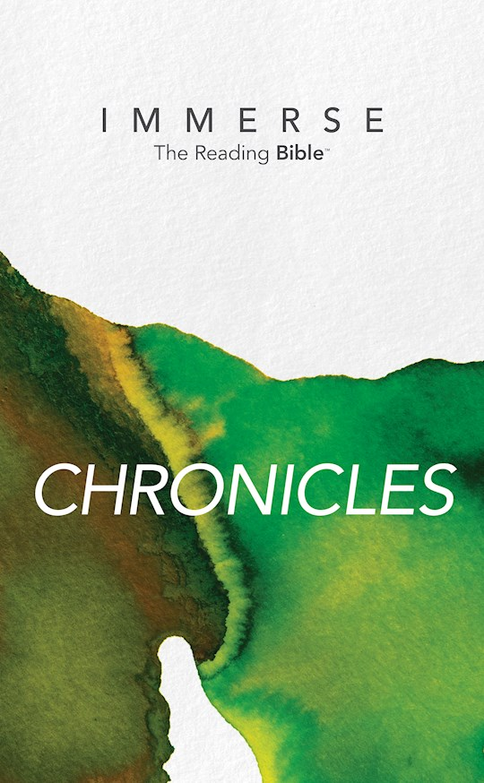 NLT Immerse: Chronicles-Softcover (Canadian Customers Only) | SHOPtheWORD
