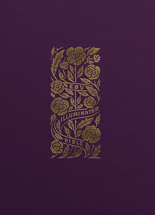 ESV Illuminated Bible-Art Journaling Edition-Eggplant Cloth Over Board | SHOPtheWORD