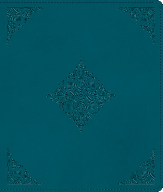 ESV Journaling Bible-Deep Teal, Fleur-De-Lis Design TruTone | SHOPtheWORD