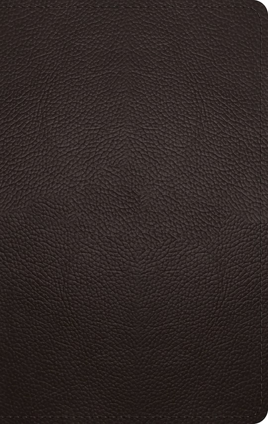 ESV Large Print Personal Size Bible-Deep Brown Buffalo Leather | SHOPtheWORD