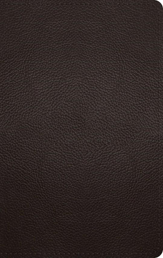 ESV Large Print Personal Size Bible-Deep Brown Buffalo Leather (Aug) | SHOPtheWORD