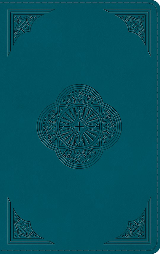 ESV Thinline Bible-Deep Teal, Rotunda Design TruTone | SHOPtheWORD