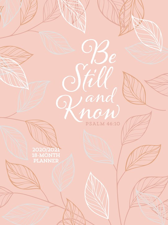 Be Still And Know 2021 18-Month Planner-Faux Leather Ziparound | SHOPtheWORD